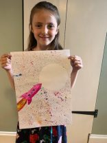 Annabelle's finished rocket picture