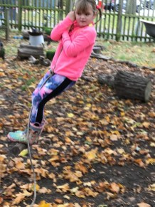 Rope swinging!