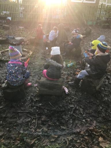 On the ninth day of Christmas, my #ForestSchool gave to me....nine carrot-peeling!