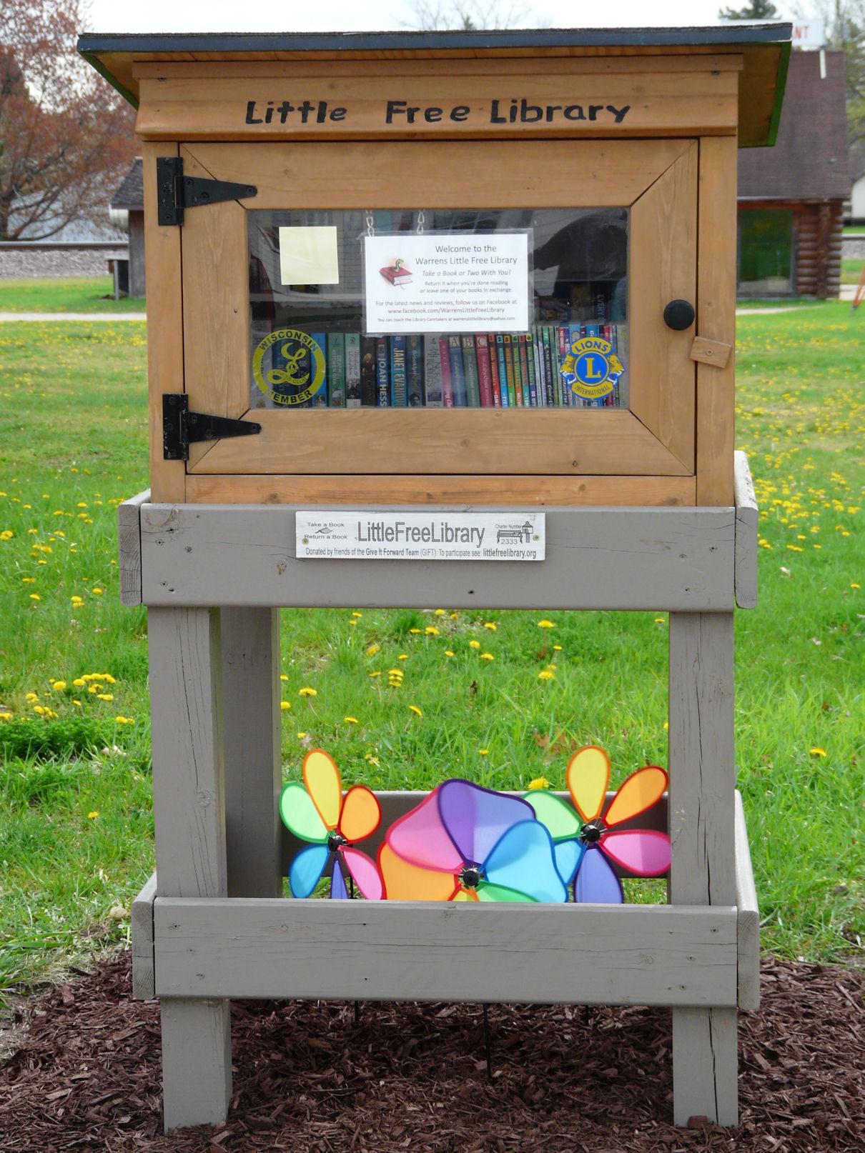 warrens little free library open house and book signing wrjc radio