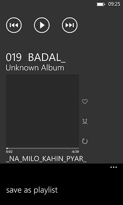 songs in windows phone 8