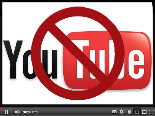 Youtube banned