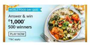 Amazon World Food Day Quiz Answers