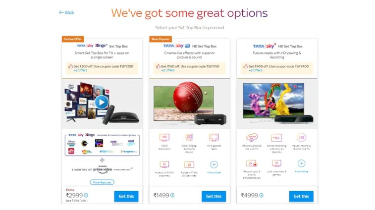 Tata Sky Binge+, HD Set-Top Boxes Price Discounted Up to Rs. 400 Online