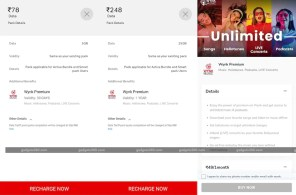 Airtel Rs. 78, Rs. 248 Data Add-On Pack Launched With Bundled Wynk Premium Subscription
