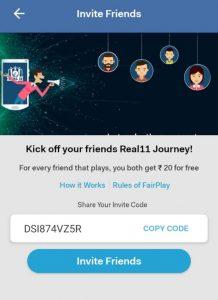 Fantasy App & Referral Code