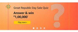 Amazon Great Republic Sale Quiz Answers