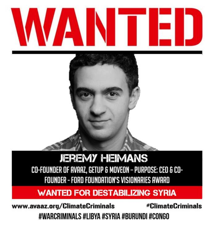 WANTED JEREMY HEIMANS SYRIA