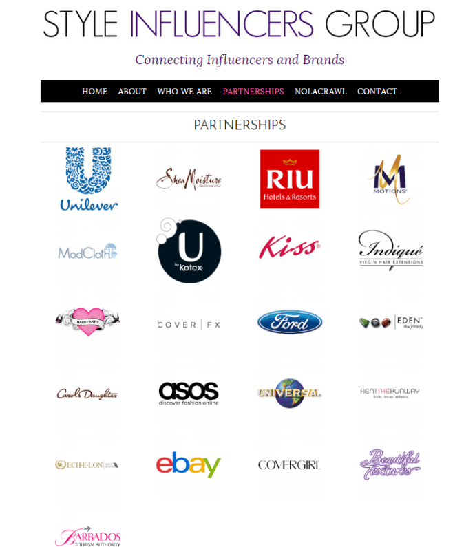 Style Influencers Group Partners