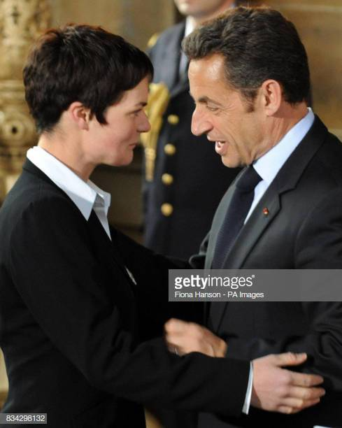 Above: Sarkozy awards Ellen MacArthur the Légion d'Honneur, 2008 [Yachting World]