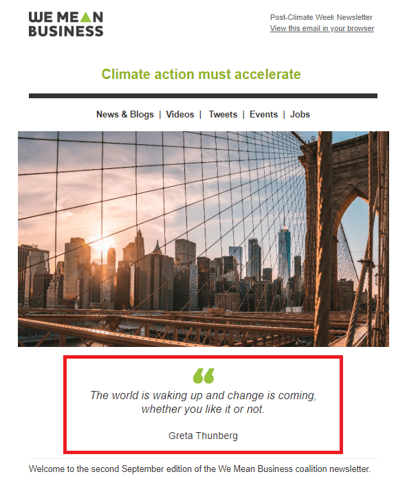 September 30, 2019: We Mean Business Post-Climate Week Newsletter