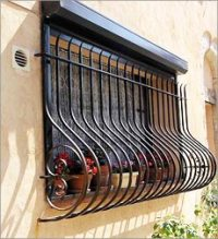 Wrought Iron Window Grills, Decorative Wrought Iron Grill ...
