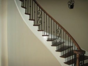 Wrought Iron Spindles Iron Spindles Stairs Wrought Iron Stair | Iron Spindles For Staircase | Simple | Modern 2019 Staircase | Farmhouse Style | Arched Metal | Basket
