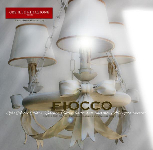 Lampadario Fiocco 3 Luci  GBS Illuminazione  Ferro