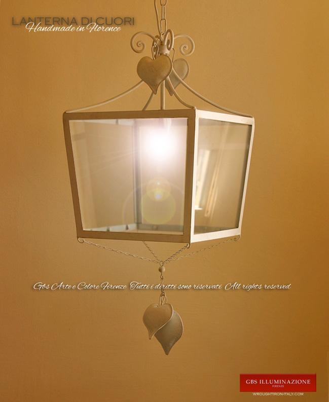 Lanterna di Cuori  GBS Illuminazione  Ferro Battuto  Wrought Iron Lightings  Tole