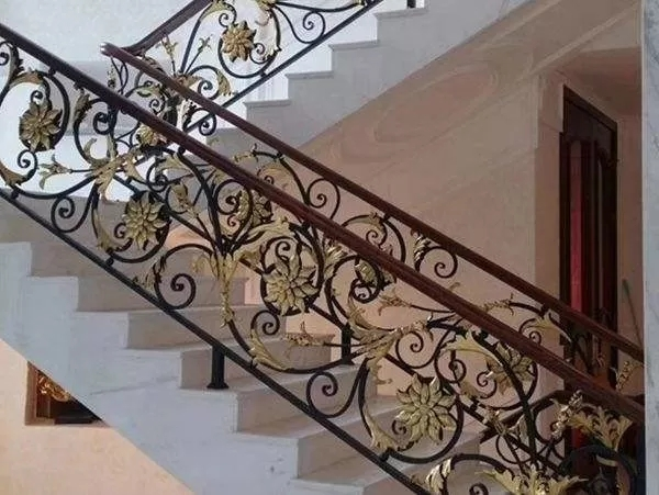 Hot Dipped Galvanized Exterior Wrought Iron Stair Railings Cast | Wrought Iron Stair Railing Near Me | Steel | Spindles | Wood | Front Porch Railings | Stair Spindles