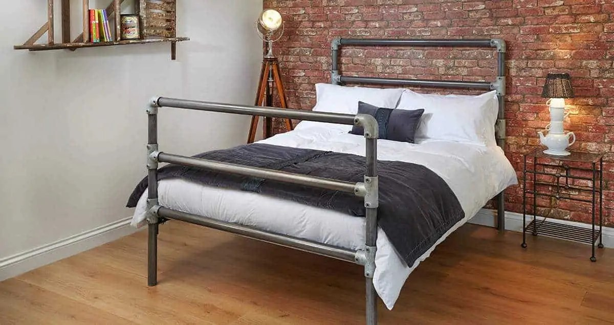 The William Industrial Chic Bed Wrought Iron Amp Brass Bed Co