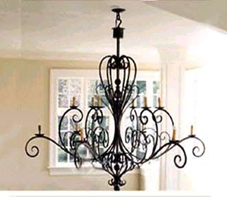 Wrought Iron Chandelier Lamp