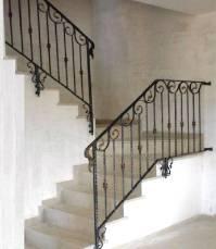 Interior balustrades - wrought iron stairways, railings ...