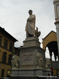 Pomnik Dantego przed Santa Croce, Florencja