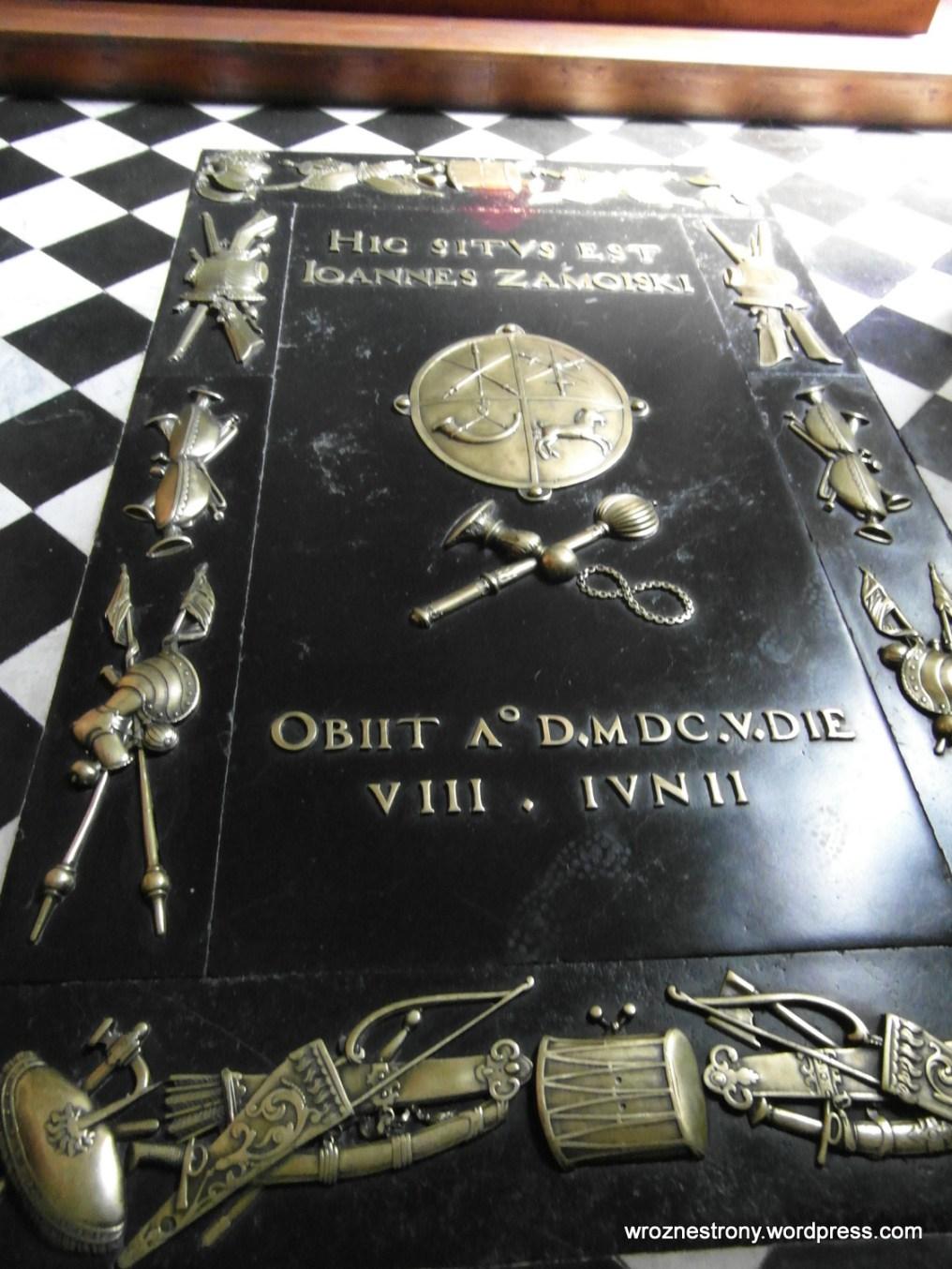 Płyta nagrobna hetmana Zamoyskiego w katedrze