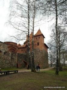Fragment murów i zamku w Trokach