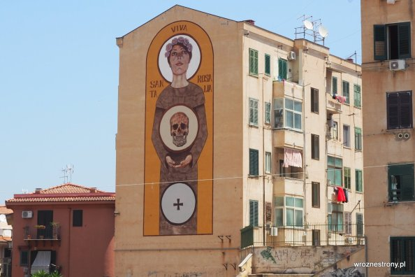 Mural ze św. Rozalią w Palermo