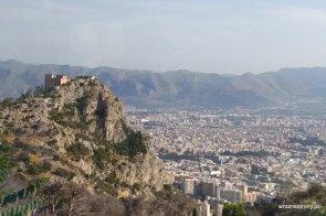 Widok z Monte Pellegrino na Palermo
