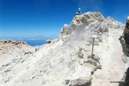 Szczyt Teide - opary wulkaniczne