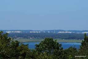 Widok ze wzgórza Zielonka na Świnoujście
