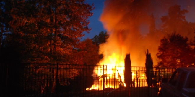 Three People Displaced When Fire Destroys White County