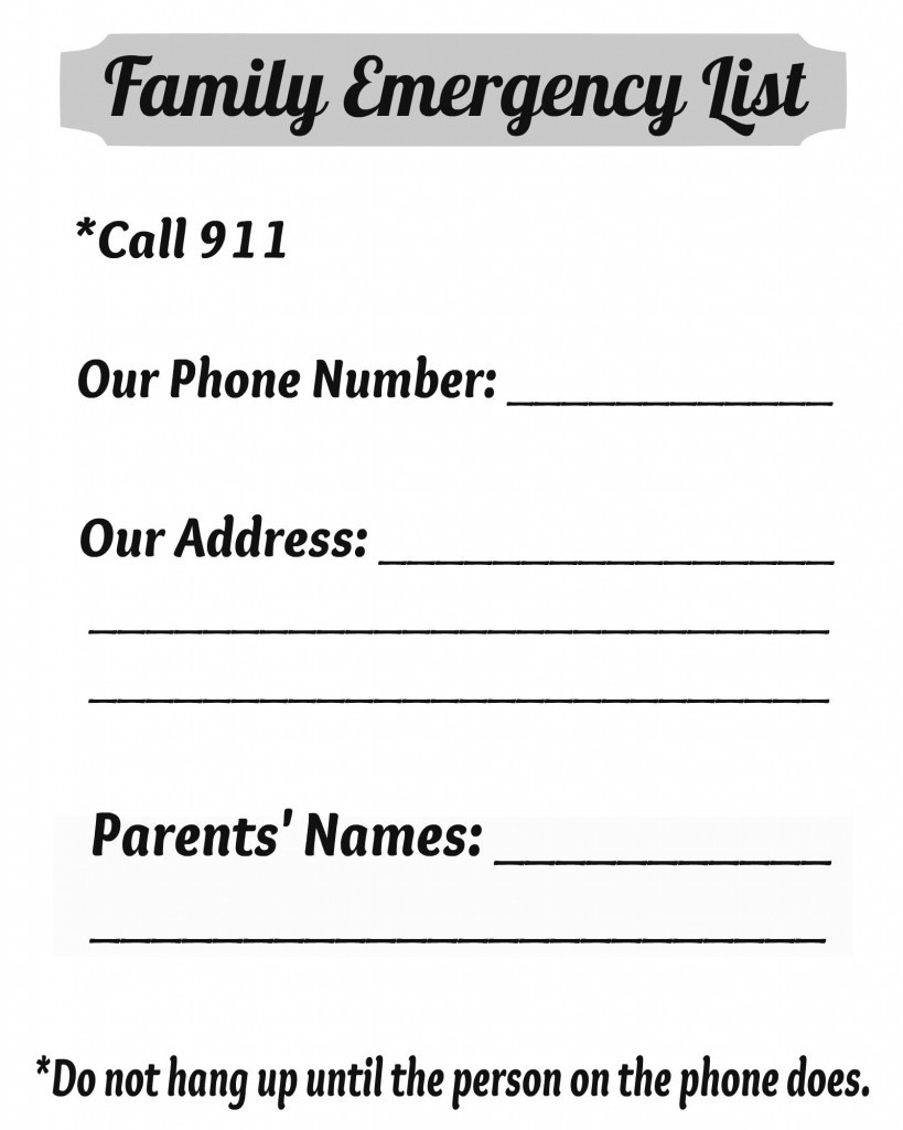 Complete list of emergency phone numbers to keep your kids