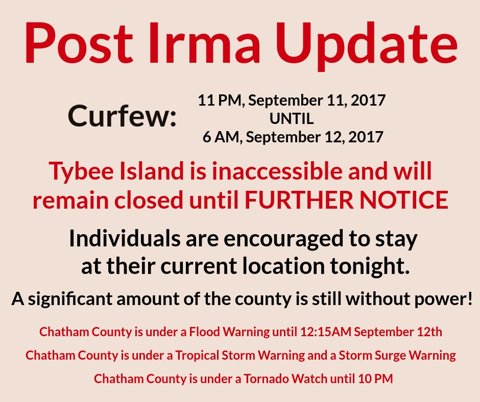 Update: Tybee Island remains closed, Individuals encouraged