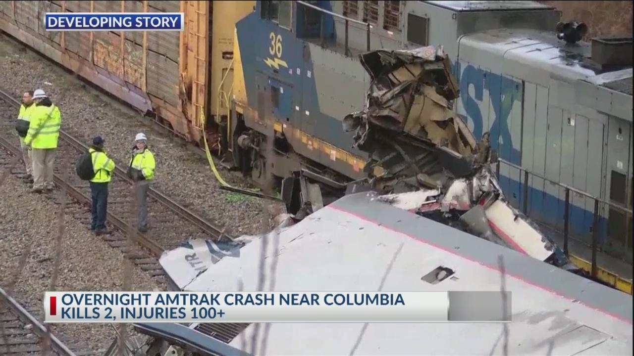 Amtrak crash kills 2, injures 116