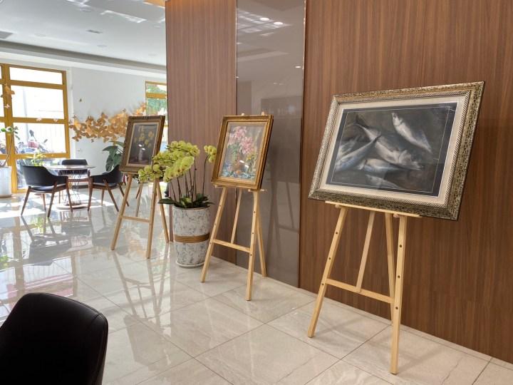 【活動快報】畫家林惠敏個人畫展於維馨1樓大廳展出!