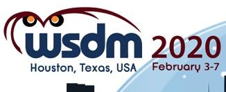 WSDM'20 (Feb. 3-7 2020)