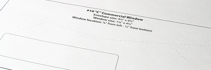 envelope templates commercial window
