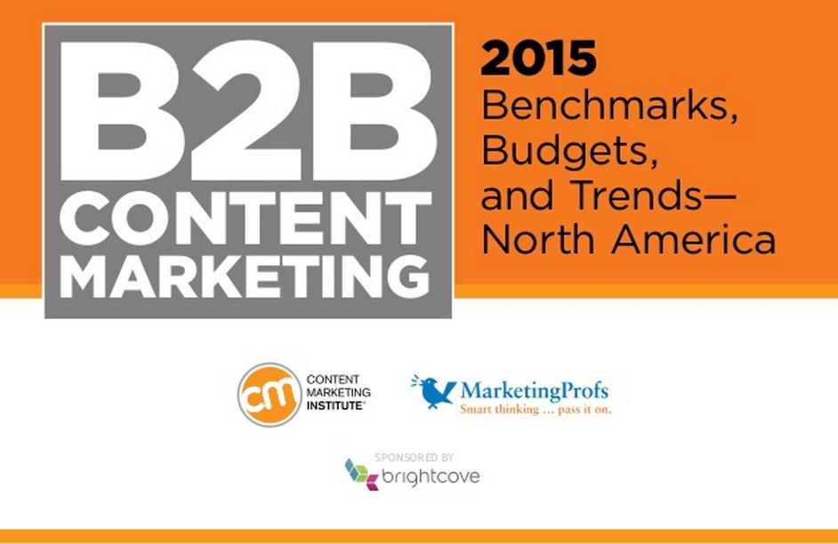 Chiffres à connaitre : B2B Content Marketing Report 2015