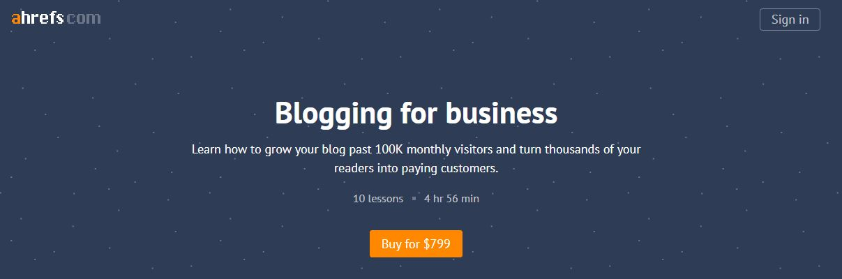 SUPER HOT SHARE] Ahrefs Academy – Blogging for Business Download