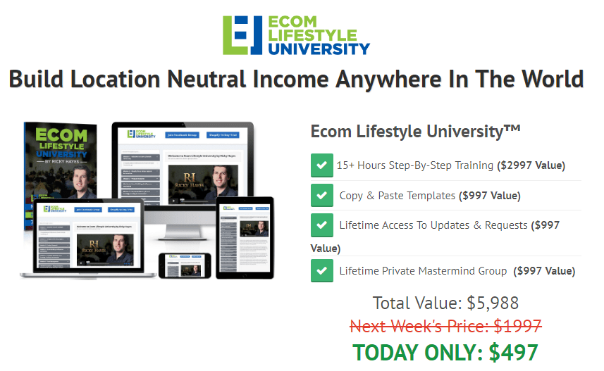 Ricky Hayes - Ecom Lifestyle University Download