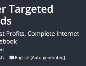 [GET] Internet Marketing, Laser Targeted Marketing & Facebook Ads 2019 Download
