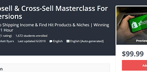 [GET] Shopify Upsell & Cross-Sell Masterclass For Max Conversions Download