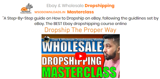 Sarwar Uddin - Ebay Wholesale Dropshipping Masterclass Download
