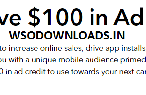 SnapChat $100 Ads coupon for US and CANADA Download