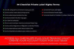 IM Checklist [2020 versions] Free Download