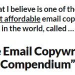 Daniel Throssell - Email Copywriting Compendium Free Download