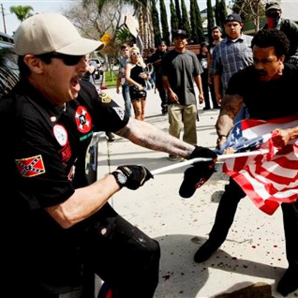 KKK Protest-Stabbing_142590