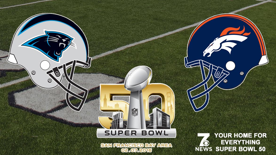 Super Bowl 50 logo generic featured image with panther and bronco helmets_127201