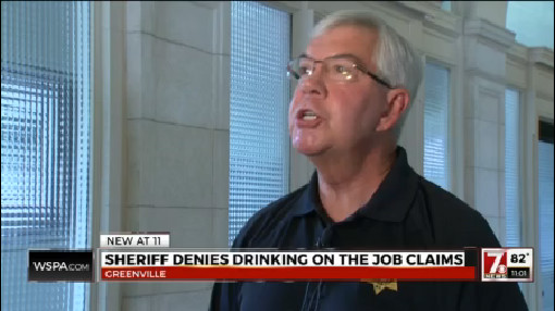 Greenville County Sheriff denies drinking on the job claims_204852