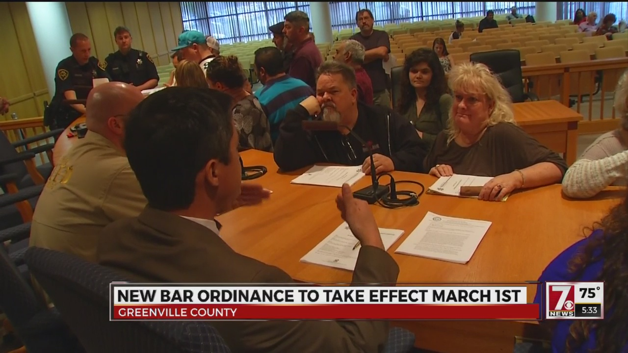 Bar Ordinance Enforcement